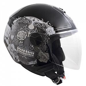 Casco jET 107S CANCUN NEGRO METAL