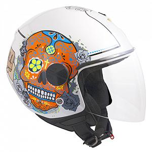 Casco jET 107S CANCUN BLANCO METAL