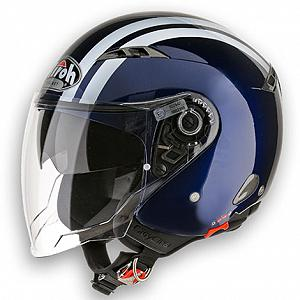 Casco jet Airoh City One azul oscuro