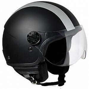 Casco jet Airoh Compact blue shield