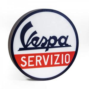 Cartel luminoso servicio Vespa